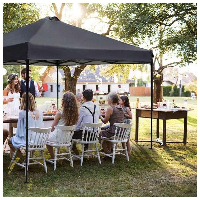 APFGA1010DG Abba Patio 10 x 10' Outdoor Pop Up Canopy, Dark Gray 4