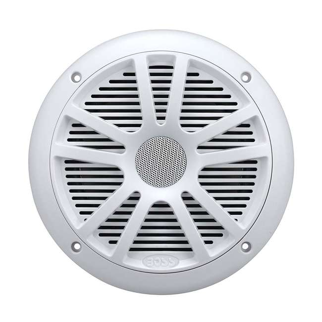 4 x MCKGB350W.6 Boss Gauge Radio + 2 Dual Cone 6.5-Inch 180-Watt Marine Speakers, White (4 Pack) 2