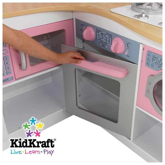 53185 + 63186 KidKraft Grand Gourmet Corner Kitchen U0026 Deluxe Cookware Set 9