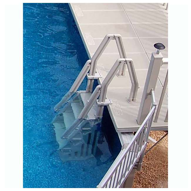 "IN32-T Vinyl Works 32"" In-Step Ladder for Pools 46-60 Inches Tall, Tan (2 Pack) 4"