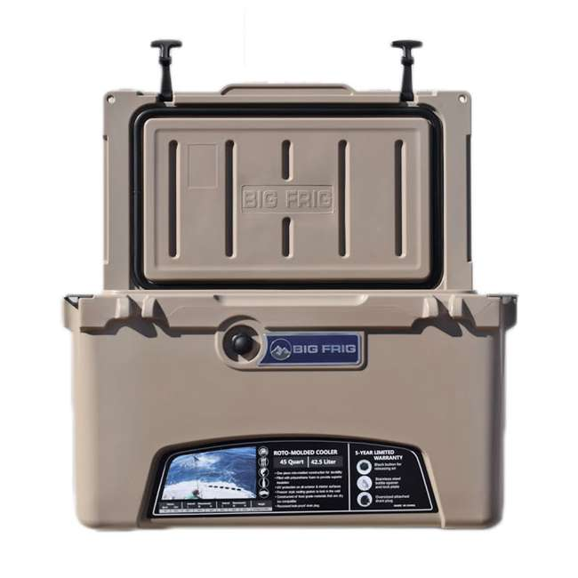 BFDB45-SD Big Frig Denali 45 Quart Insulated Cooler with Cutting Board and Basket, Sand 2