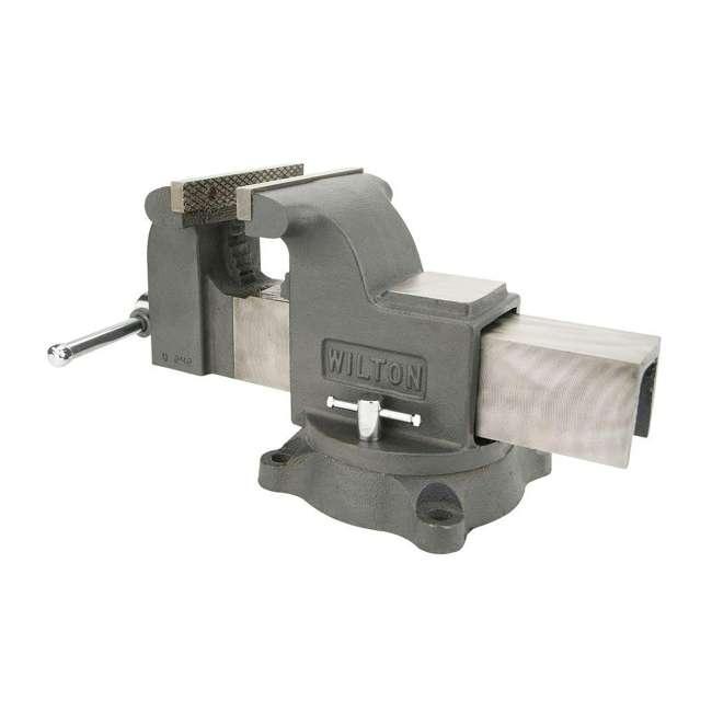 WIL-63302 + WIL-20816 Wilton WS6 6 In Bench Vise w/ 8 Pound Sledge Hammer 4