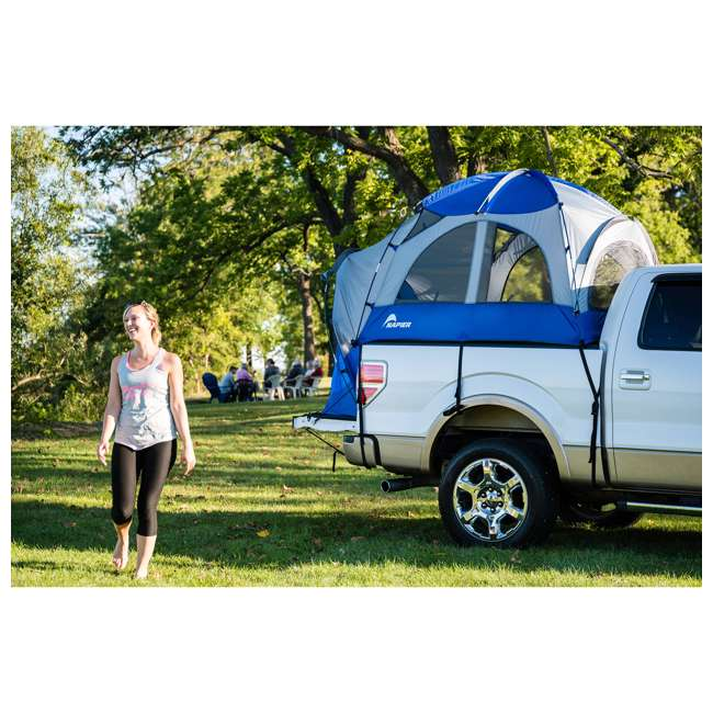 57011-U-B Napier Sportz 8.2 Ft. Easy Setup Full Size Long Truck Bed Tent, Blue/Gray (Used) 5
