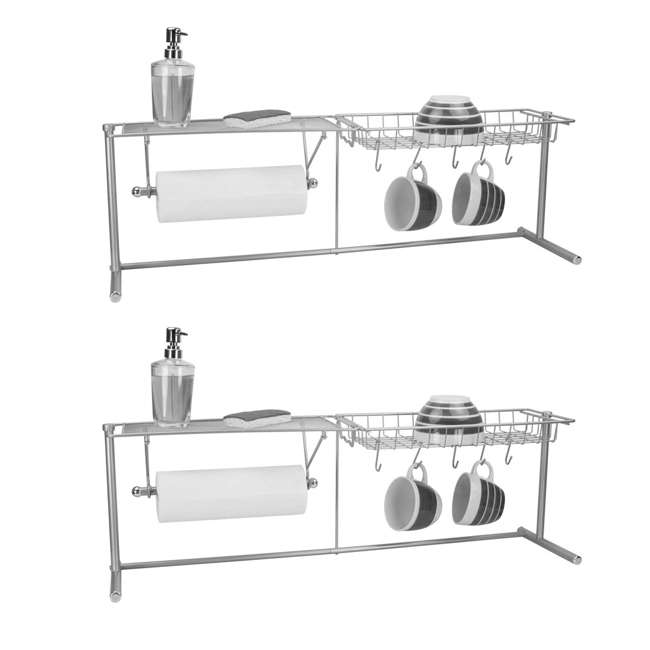SS41254 Home Basics Kitchen Station Organization Rack (2 Pack)