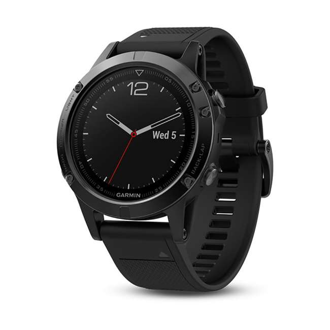 010-01688-10 Garmin Fenix 5 Multi-Sport 64 MB Smart Watch, Black
