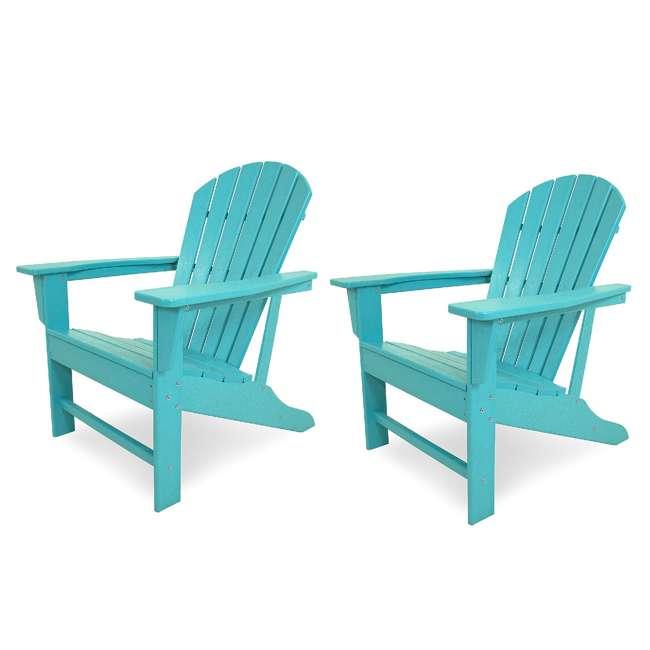 ADIRONDACKB Leisure Classics UV Protected Indoor Outdoor Patio Chair, Turquoise (2 Pack)