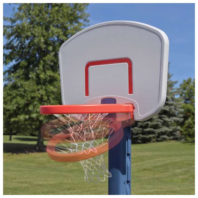 735700-U-B Step2 Durable Adjustable Child Pro Basketball Hoop and Ball, Blue (Used) 3