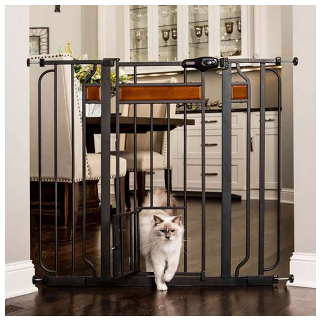 "1140 DS Carlson Pet Products Design Paw 37"" Extra Tall Pet Gate, Graphite 1"