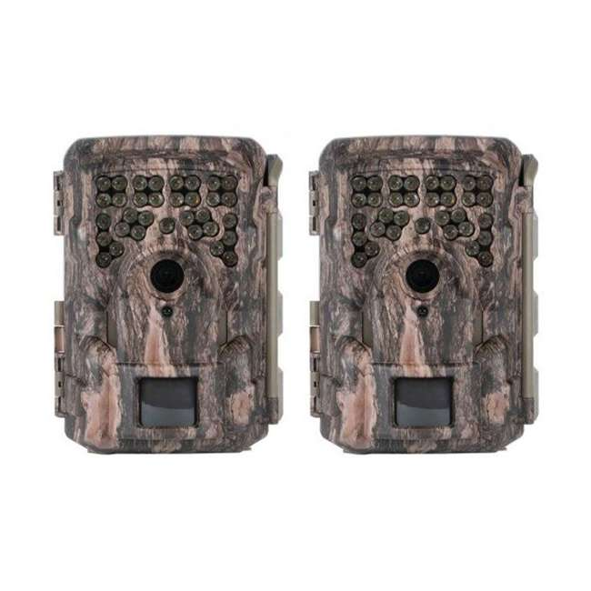 MCG-13332 Moultrie M8000i Invisible Flash Mobile Compatible Game Trail Camera (2 Pack)