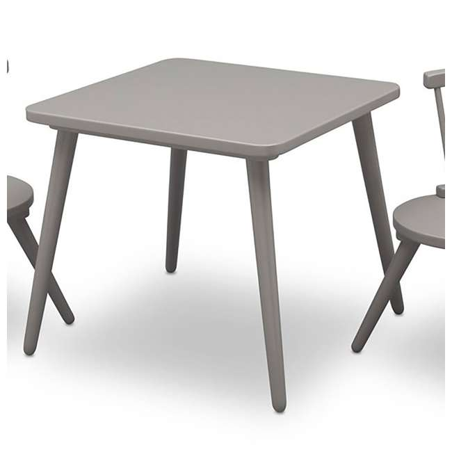 531300-026-U-A Delta Children Windsor Home Dining Table and 2 Chair Play Set, Grey (Open Box) 1