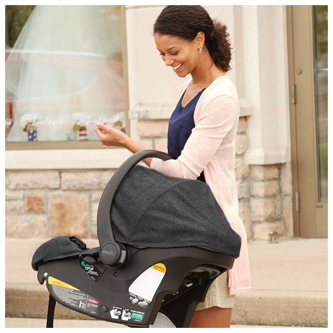 56231975 Sibby Travel System with LiteMax 35 Infant Car Seat (Charcoal)  5