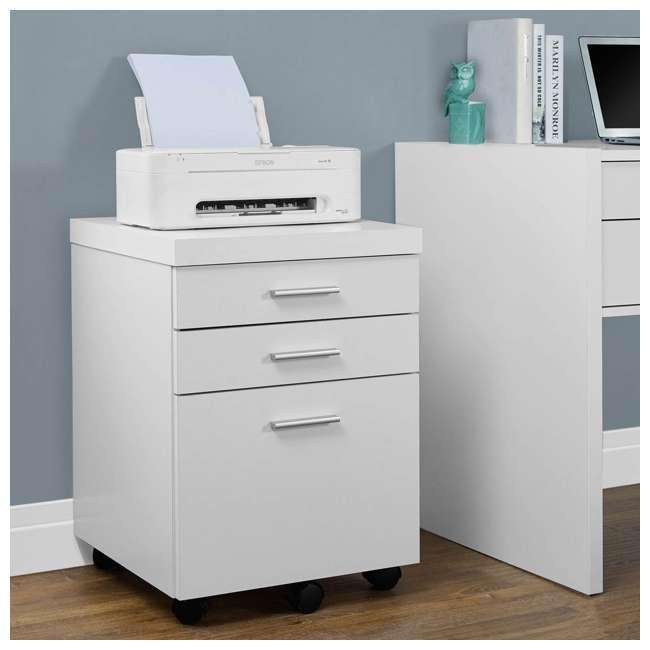 VM-7081 + VM-7048 Monarch 60 Inch Office Computer Desk w/ Filing Drawer & 3 Drawer Filing Cabinet 7
