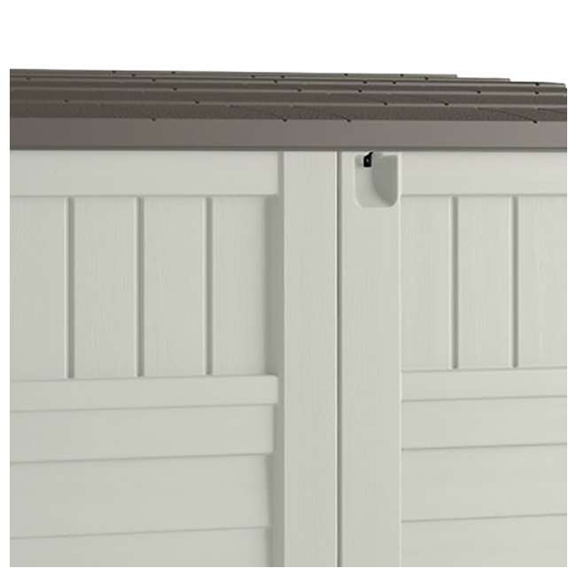 3 x BMS2500 Suncast Horizontal Storage Shed Stow Away, Ivory (3 Pack) 4
