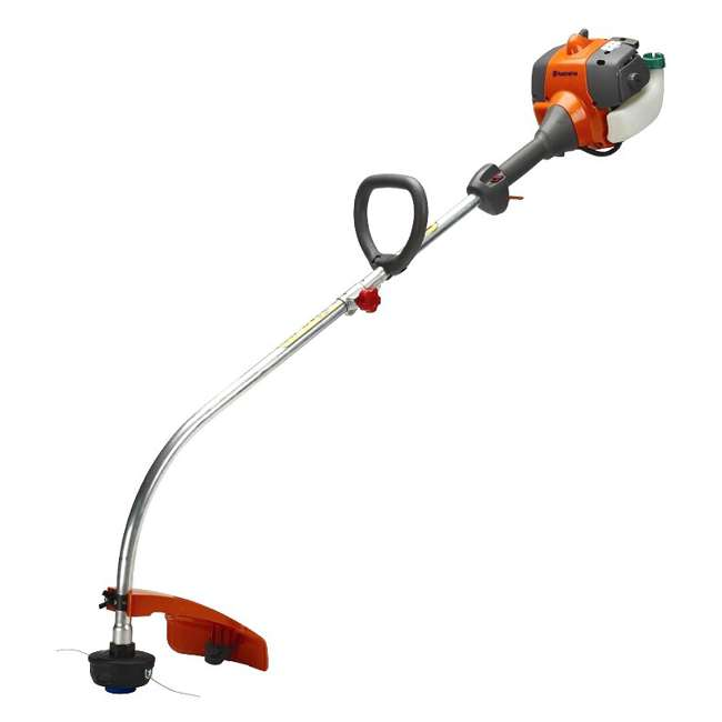 HV-TR-952711952 + HV-TOY-585729102 Husqvarna 2 Cycle Gas Powered Lawn Trimmer & Battery Operated Toy Weed Trimmer 1