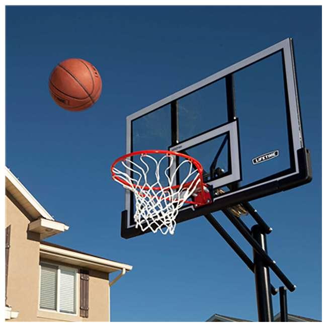 90601 Lifetime Adjustable All Weather Shatterproof Basketball Sports Hoop (Used) 2