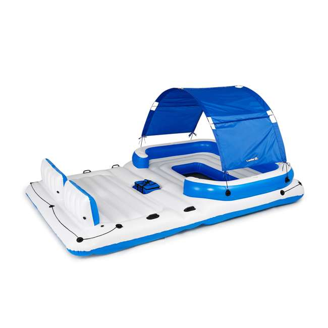 43105E-BW + 43115E-BW Bestway CoolerZ Tropical Breeze 6 Person Floating Island with 4 Person Island 1