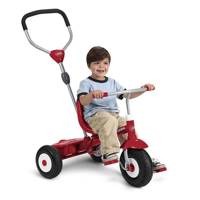 816Z Radio Flyer Sport 4 in 1 All Terrain Kids Stroll 'N Trike Ride On Tricycle, Red 4