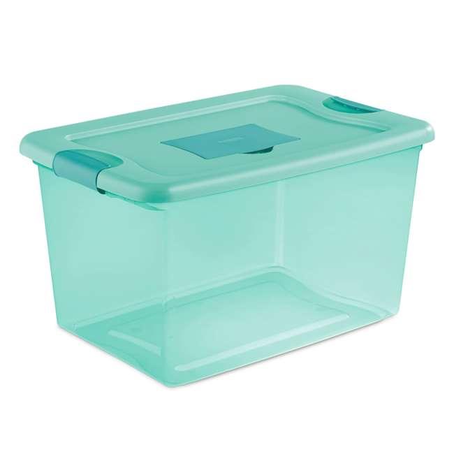 12 x 15077Y06-U-A Sterilite 64 Quart Fresh Scent Stackable Plastic Storage Box (Open Box)(12 Pack)