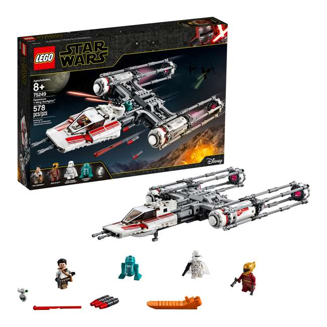 6251743 LEGO 75249 Resistance Y-Wing Starfighter Block Building Kit w/ 5 Minifigures 3