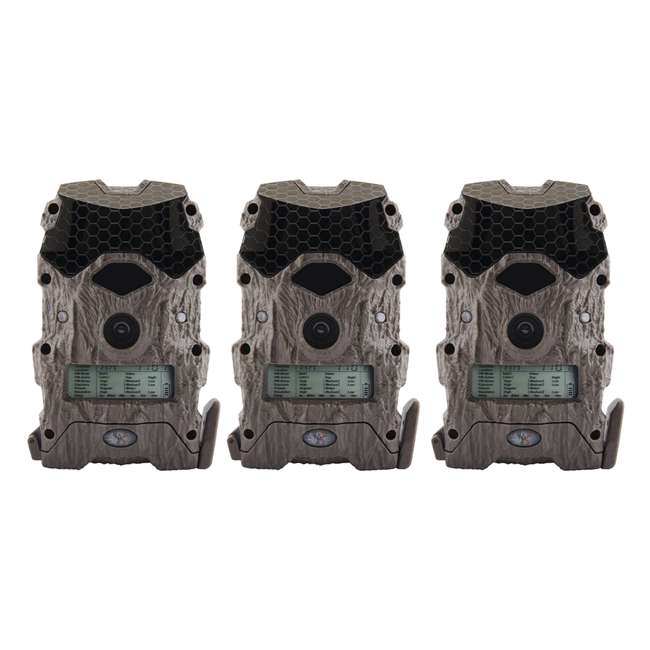 3 x WGICM0557 Wildgame Innovations Mirage Series No Glow 16 MP Outdoor Camera, Green (3 Pack)