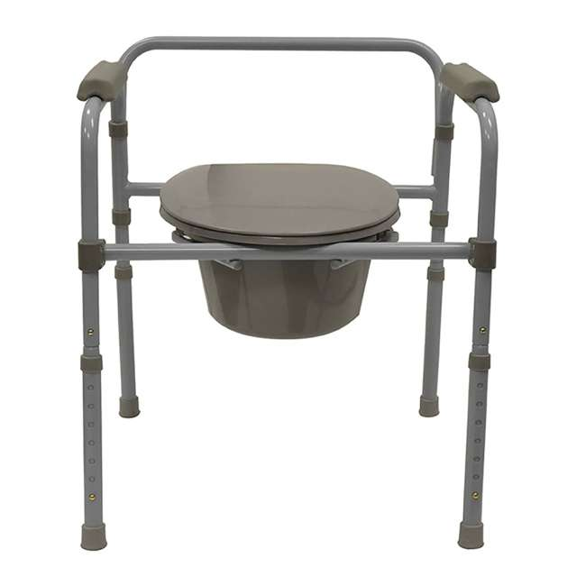 59024-COMMODE Bios Living Adjustable Commode Portable Toilet (2 Pack) 1