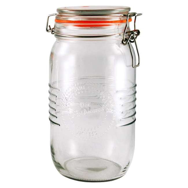 GH-50894 Grant Howard 50894 1.5 Liter Old Fashioned Rustic Country B&T Glass Storage Jar