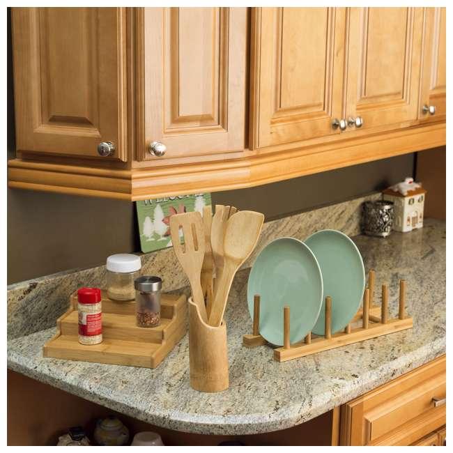 DD01018 + DR01036 + CH44543 Home Basics Dish Drainer & Drying Rack & Cooking Utensil Holder 7