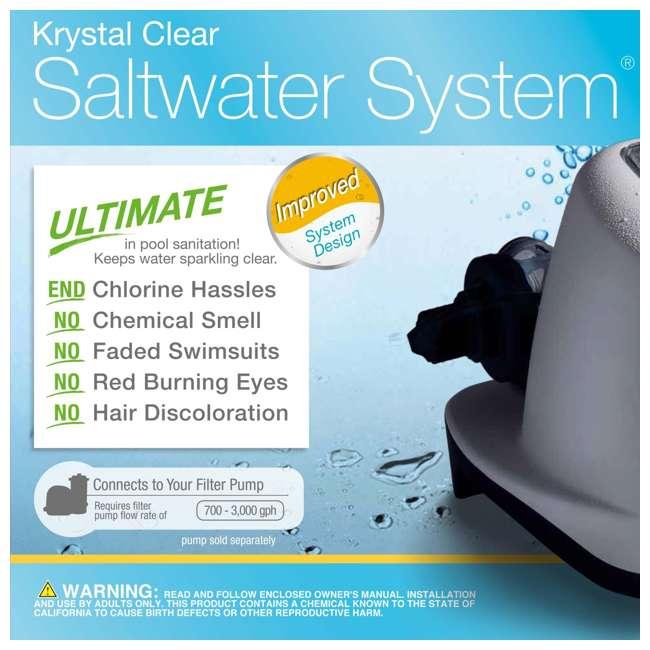 26645EG + 26669EG Intex Pool Sand Filter Pump w/Krystal Clear Saltwater System 9