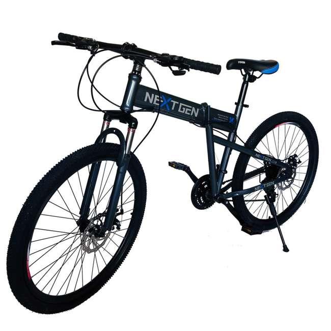 "MTB011-GRY NextGen 26"" 21 Speed Shimano Foldable Hardtail Downhill Mountain Bike, Gray 2"