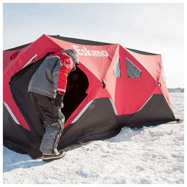 ESK-FF9416i Eskimo FatFish Insulated 7-9 Person Pop Up Ice Fishing Shelter 4