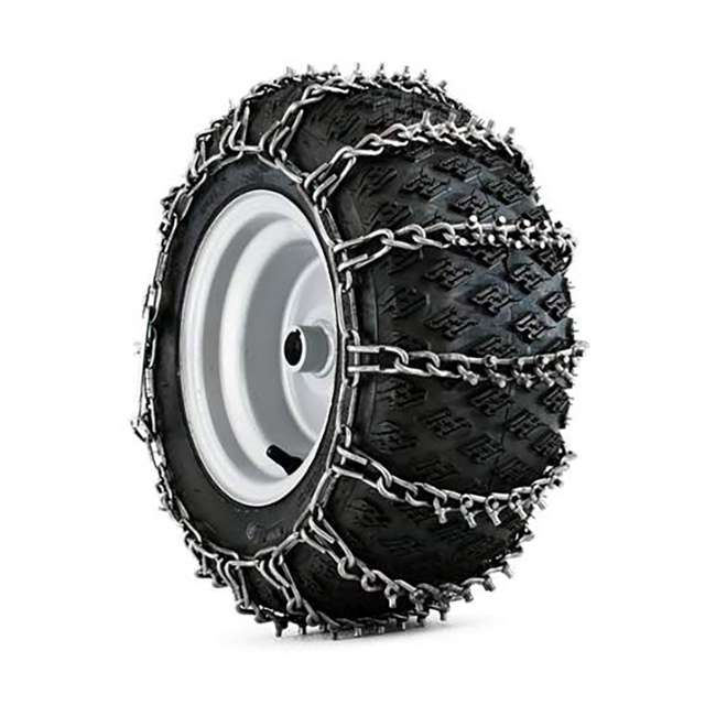 1062756 Husqvarna 1062756 Tractor Tire Snow Thrower Traction Grip Cable Chain (2 Pack)