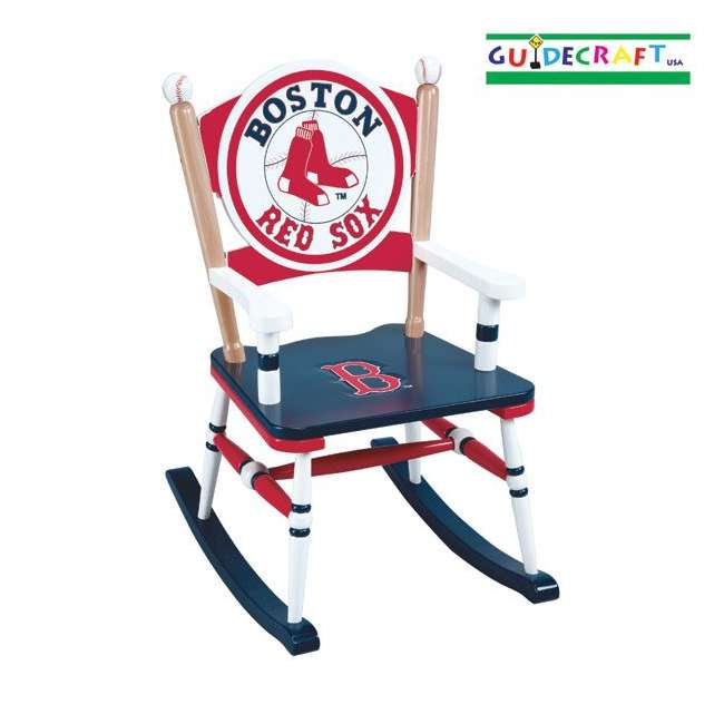 G11108 Guidecraft Red Sox Rocking Chair