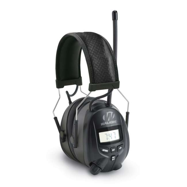 GWP-RDOM-U-C Walkers Hearing Protection Over Ear AM/FM Radio Earmuffs w/ Display (For Parts)