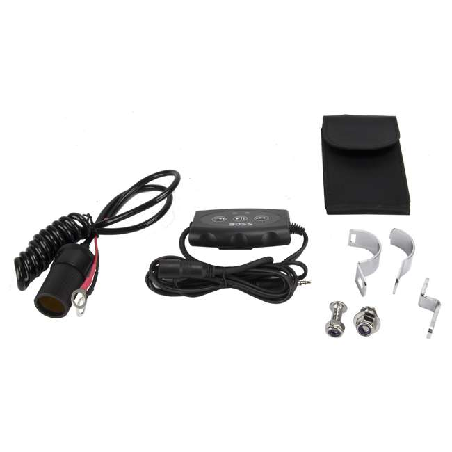 ATV25B + SC-1360BTRD Boss ATV25B Dual 450W 6.5-Inch ATV/Marine Amplifed Waterproof Speakers + Bluetooth 6