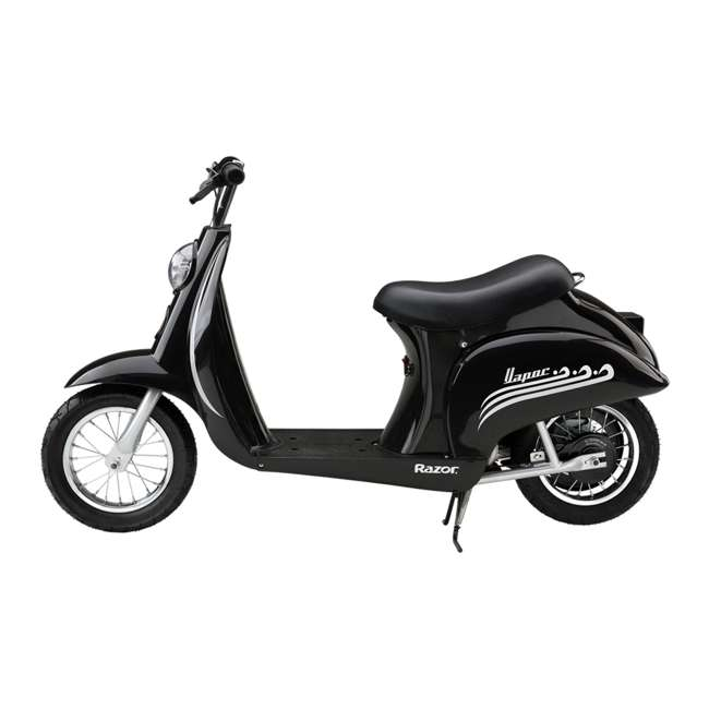 15130601 + 97778 + 96785 Razor Pocket Mod Scooter (Black) with Helmet, Elbow and Knee Pads 2