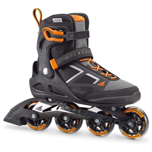 07847100956-8 Rollerblade Macroblade 80 Mens Adult Performance Inline Skates, Orange and Black