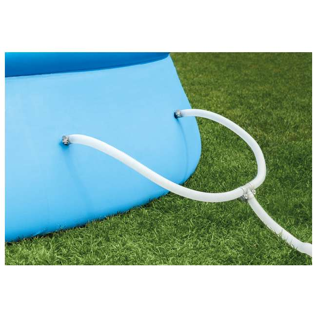 """28141EH-U-C Intex 13' x 32"""" Easy Set Above Ground Pool Kit & 530 GPH Filter Pump (For Parts) 4"""