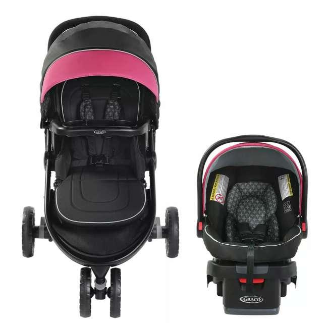 2081084 Graco Modes 3 Lite DLX Baby Stroller & Infant Car Seat Travel System, Arbis Pink 1
