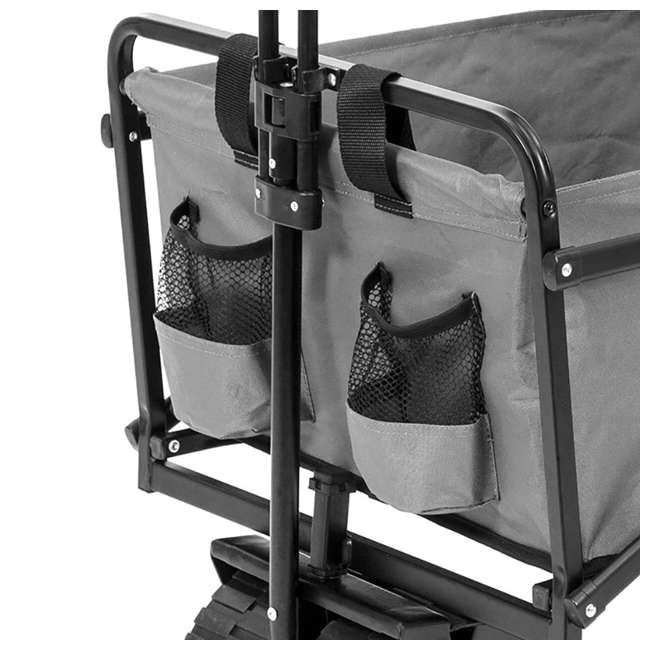 SUW-400GY Seina Collapsible Utility Beach Wagon and Cart, Gray (2 Pack) 2