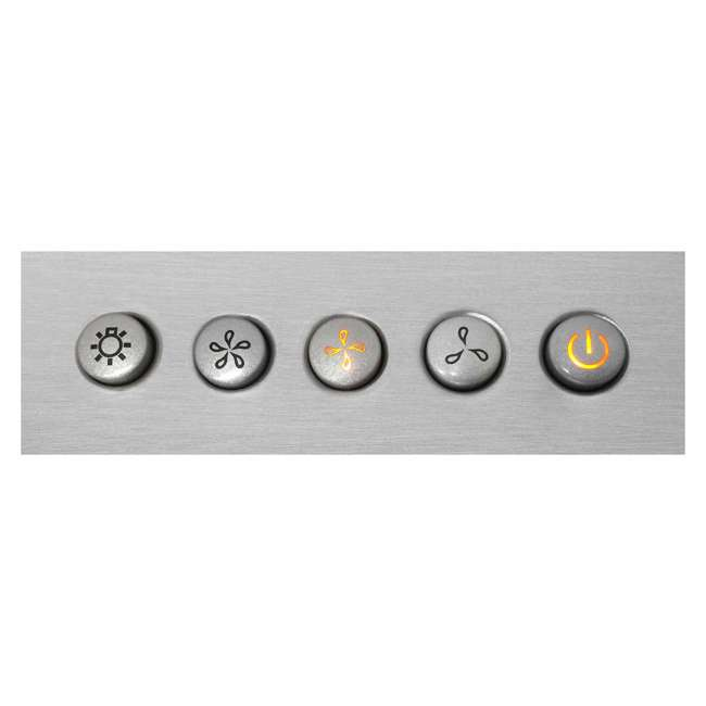 COS-63190 Cosmo COS-63190 36 Inch Wall Mount Range Hood with Push Control, Stainless Steel 1