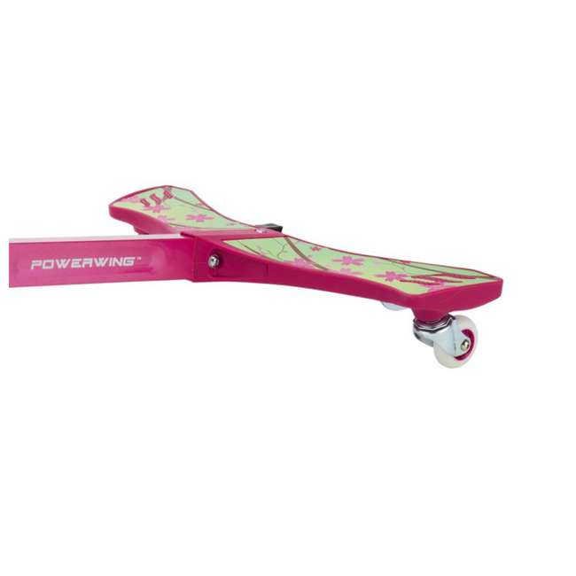 20036065 Razor PowerWing 3-Wheel Caster Powered Scooter, Sweet Pea Pink 3