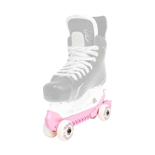 0G144500T1A-S + 44374-P Rollerblade Bladerunner Micro Ice G Skates, Small, and Skate Guard Rollers (Pair) 6