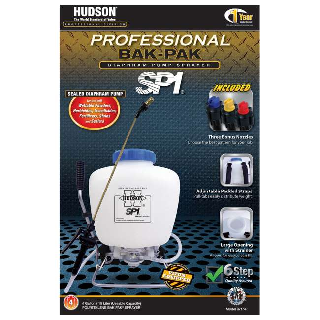 HDH-97154 HD Hudson Multipurpose Professional 4-Gallon Bak-Pak Sprayer 1