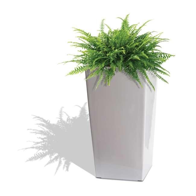 ALG-11404 Algreen Modena Self-Watering Planter, Glossy White 1