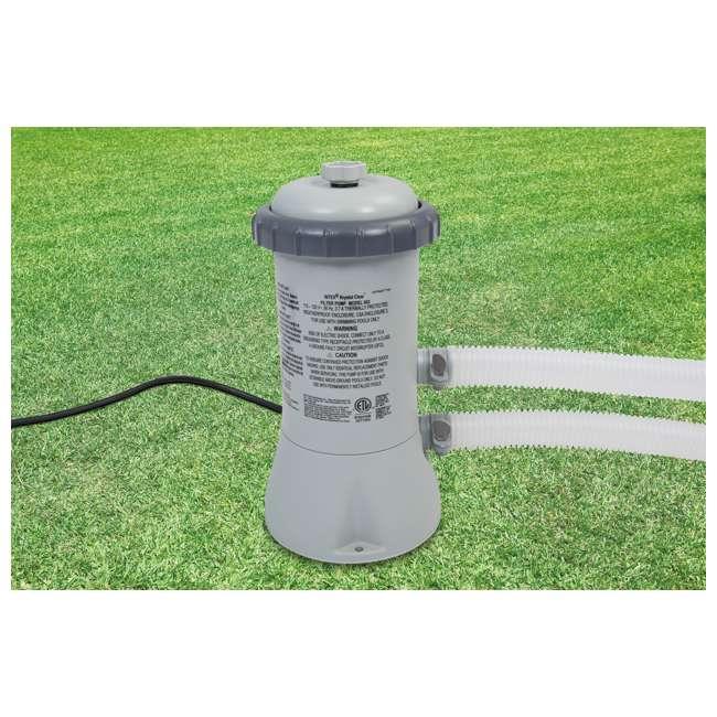 "28157EH-U-A Intex 15' x 33"" Set Above Ground Pool & 530 GPH Filter Pump (Open Box) (2 Pack) 2"