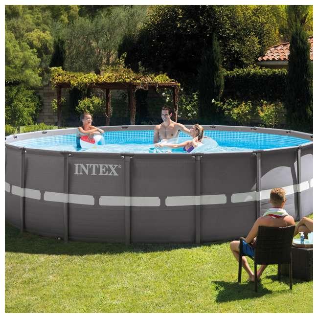 "26331EH + K816CBX Intex 18' x 52"" Ultra Frame Pool Set with 2100 GPH Sand Filter Pump & V-Trap Vac 2"