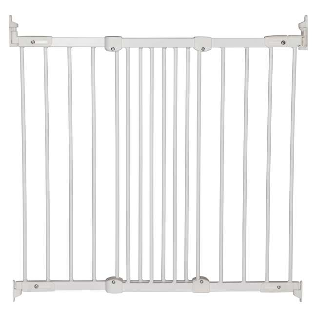 BBD-55114-5400 BabyDan FlexiFit Metal Adjustable 42 Inch Wall Mounted Baby Safety Gate, White
