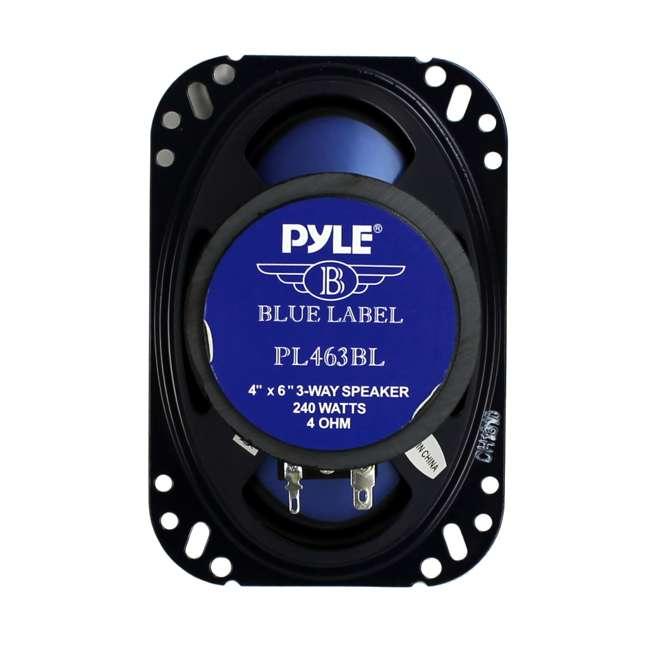 12 x PL463BL Pyle PL463BL 4x6-Inch 240W 3-Way Speakers (24 Speakers) 5