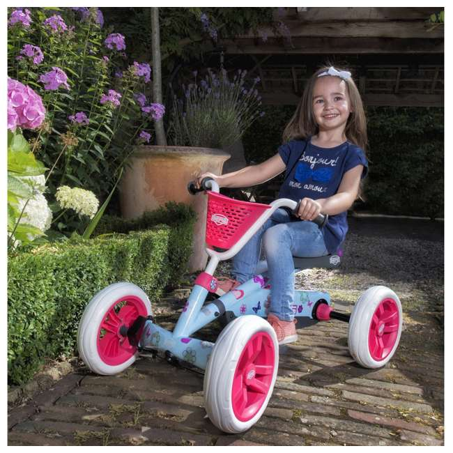 24.30.02.00 Berg Buzzy Bloom Toddler Adjustable Compact Pedal Powered Go Kart, Light Blue  5