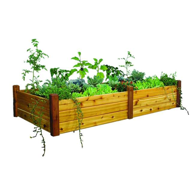 RGBT 48-95S Gronomics Western Red Cedar Raised Garden Bed 48 x 95 x 19 Inches, Finished 1